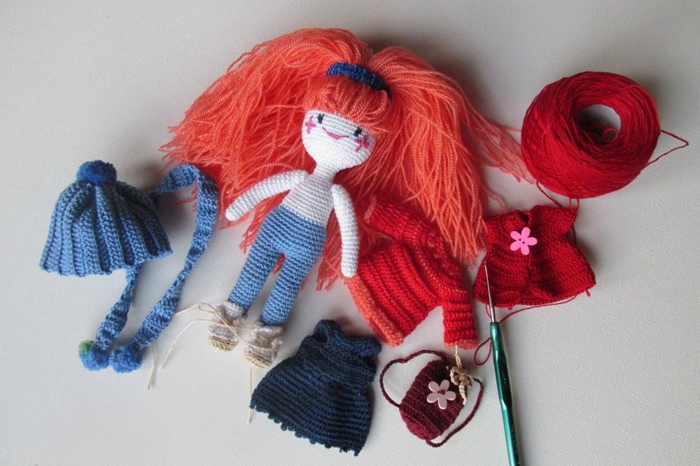 Image of Lola - crochet doll