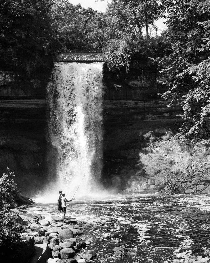 Image of Fishing at the Falls