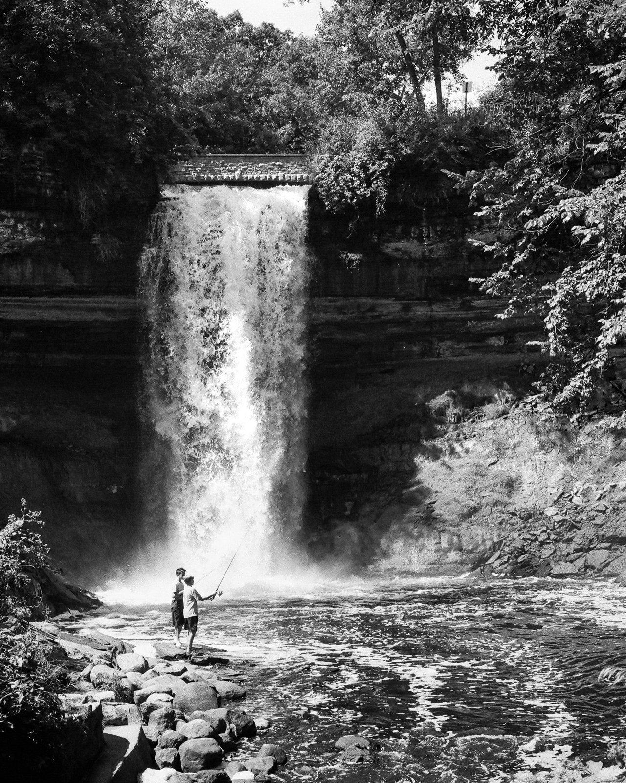 Fishing at the Falls
