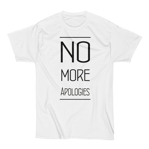 "Image of No More Apologies ""New Text"" Unisex Crew Neck Shirt"