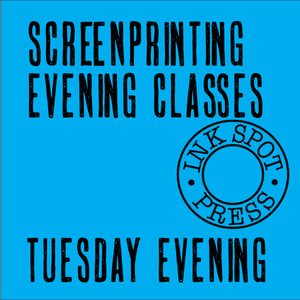 Image of Screenprinting Evening Class (six classes). 12th. Nov. 17th. Dec. 6.30 - 9.30pm. £220.00