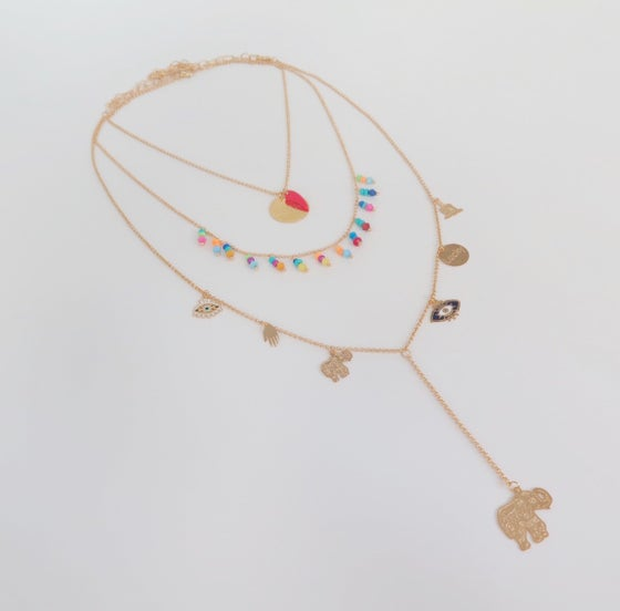 Image of Triple Lucky Multicolor Necklace