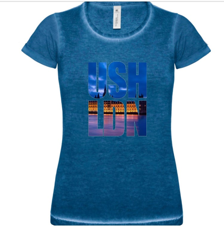 Image of Women's Aqua Blue USH LDN CITY