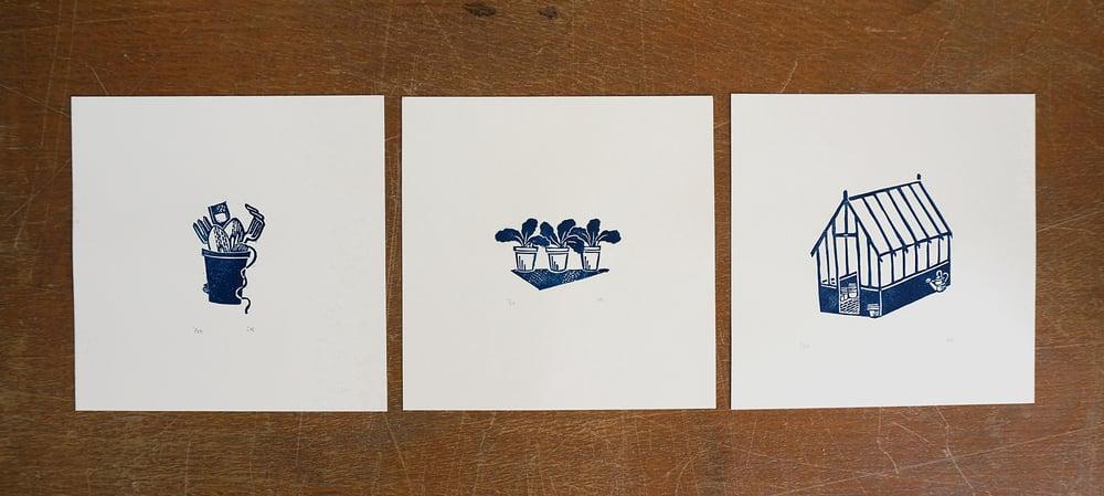 Image of 'Greenhouse' - Linocut Print