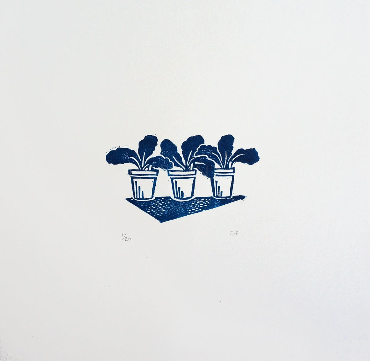 Image of 'Potting Up' - Linocut Print