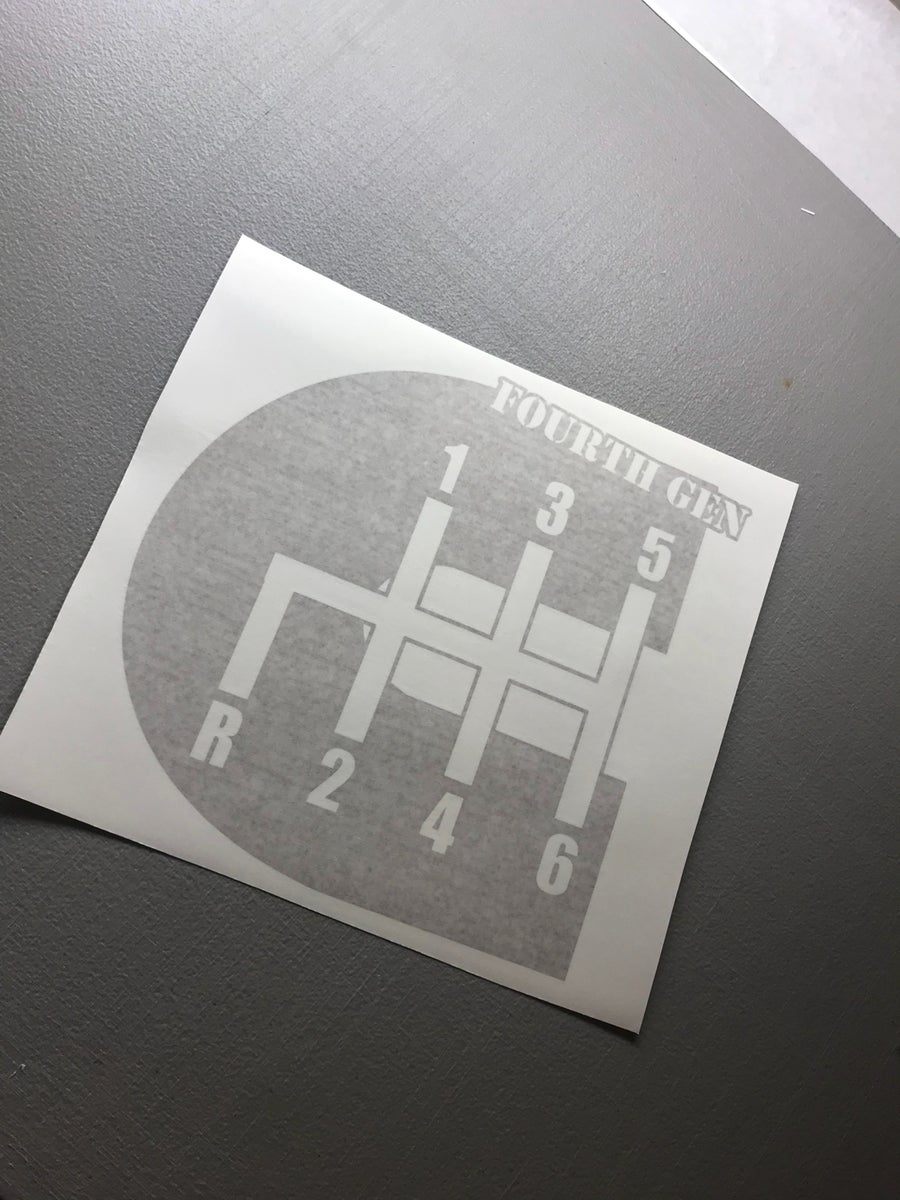 """Image of 12"""" 4th gen decal"""