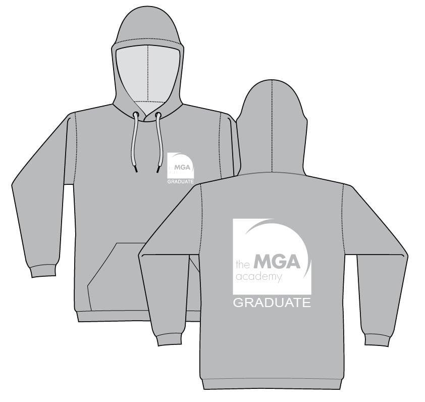 Image of GRADUATE Hoodie - Black and Grey