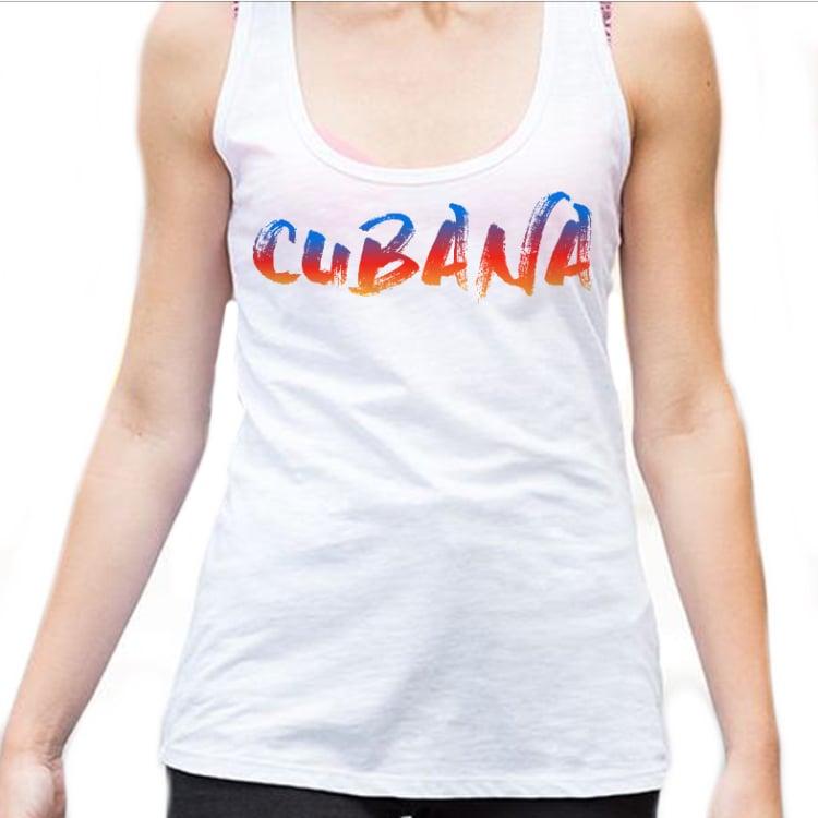 Image of CUBANA women's Vest Top - White Sunset