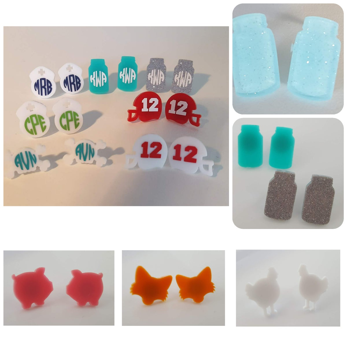 Image of Acrylic Shape Earrings