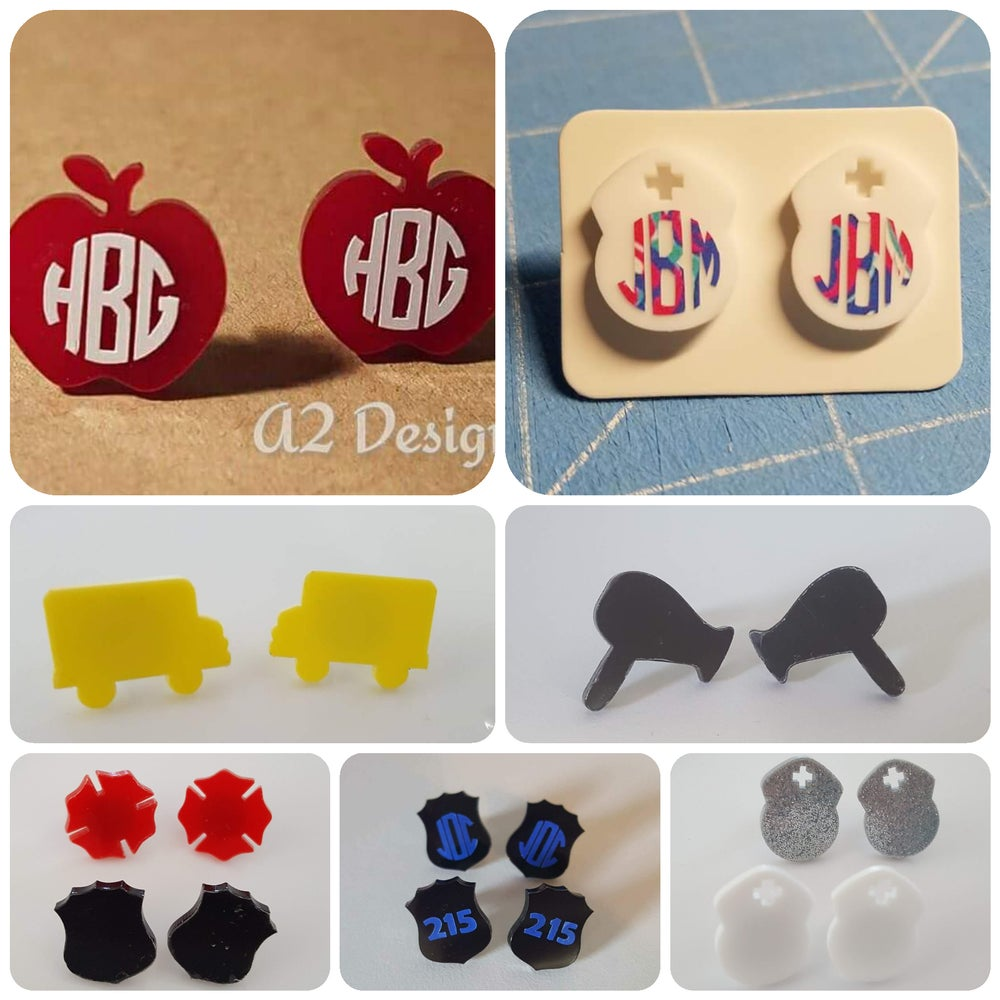 Image of Acrylic Shape Earrings