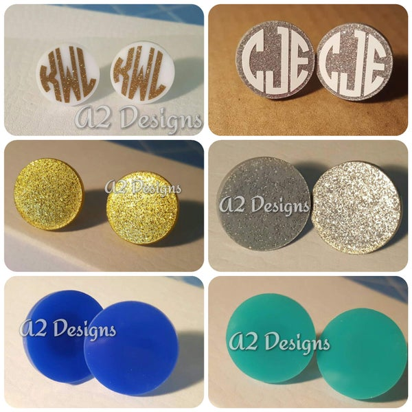 Image of 16mm Acrylic Circle Earrings