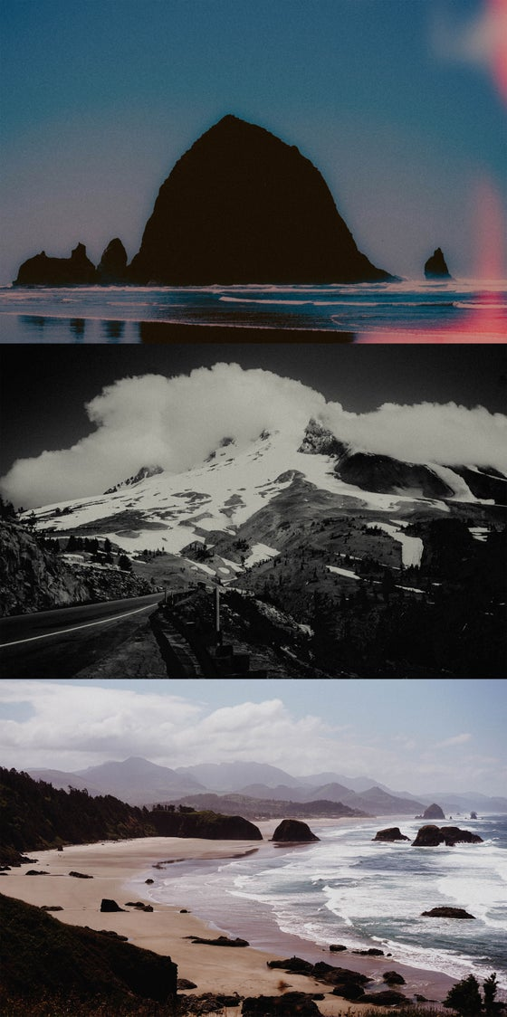 Image of Oregon Coast / Mount Hood Photograph Print Pack By Adam Fields
