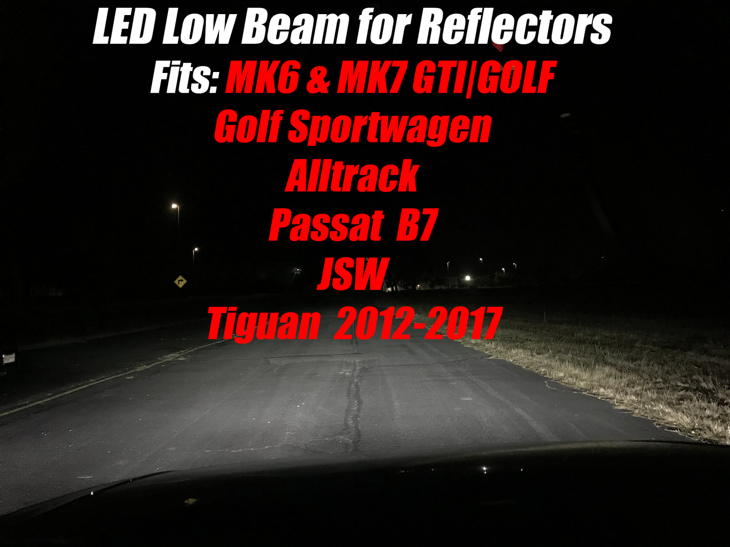 Image of H7 LED Low Beam for the VW GTI / GOLF / GSW / ALLTRACK / JSW / Tiguan / Passat