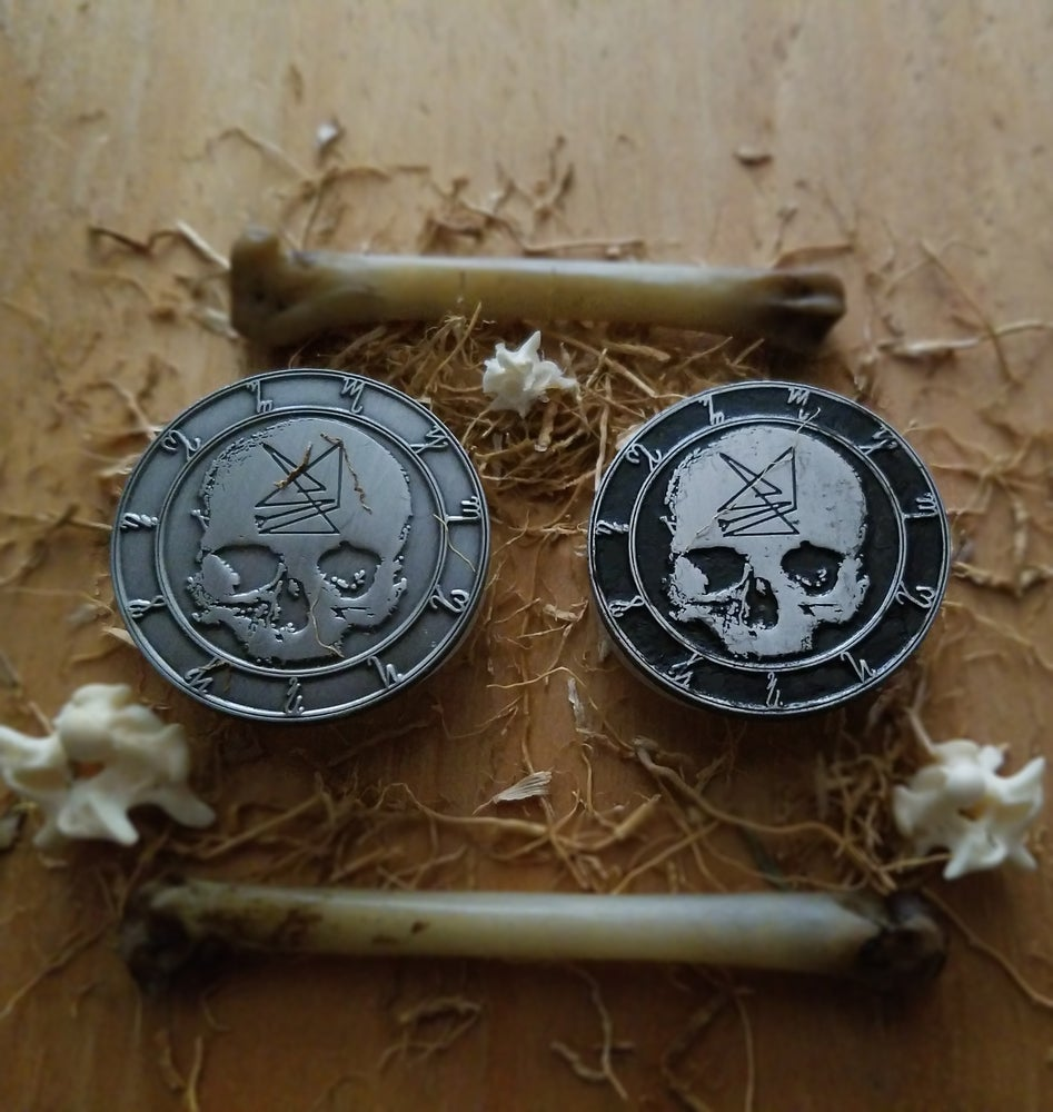 Image of DEATHSTENCH sigil metal pin