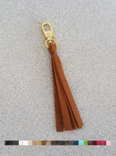 Image of Leather Zipper Pull / Tassel Accessory / Handbag Tassel Charm - Choice of Leather Color