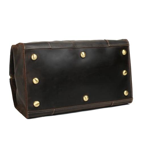 Image of Extra Large Vintage Genuine Leather Duffle Bag, Travel Bag, Handbag 3151