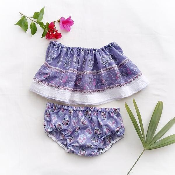 Image of SALE elskan . lavender sunsuit