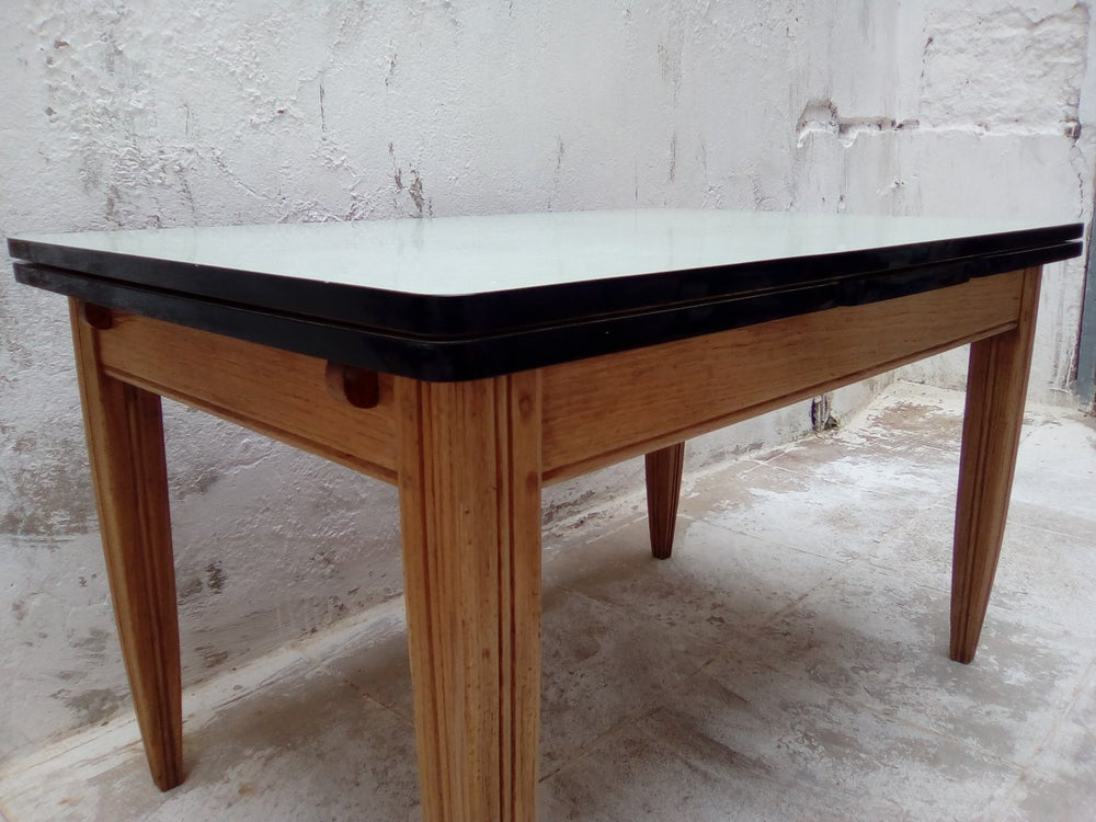 Image of Table de ferme bois formica