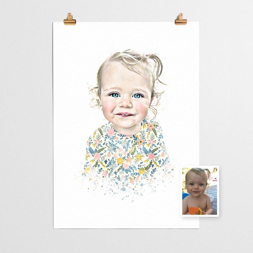 Image of Custom Portrait Patterned