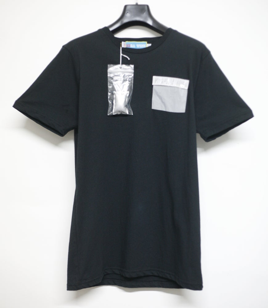 Image of Black Ice Gel Pack/Silver/Clear Pocket Tee Shirt