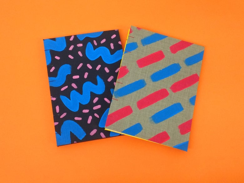 Image of Hand Painted Coptic Stitch Notebooks