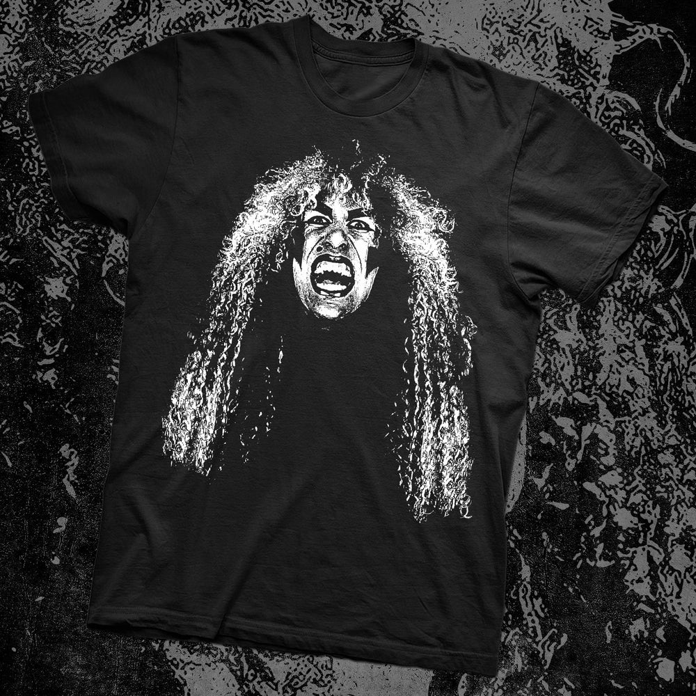 Image of DEE SNIDER BLACK & WHITE T-SHIRT PRE-ORDER