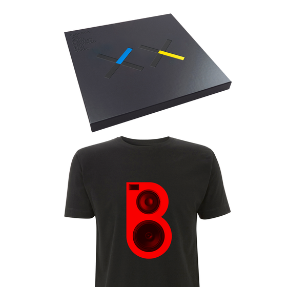 Image of Bedrock XX Deluxe Vinyl & CD Box Set, Signed Print & Red Speaker T-shirt