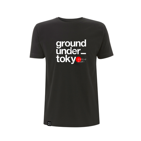 Image of Bedrock Ground_under Tokyo T-shirt Black (Pre-order)