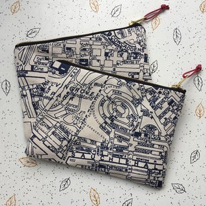 Image of Glasgow map clutch purse
