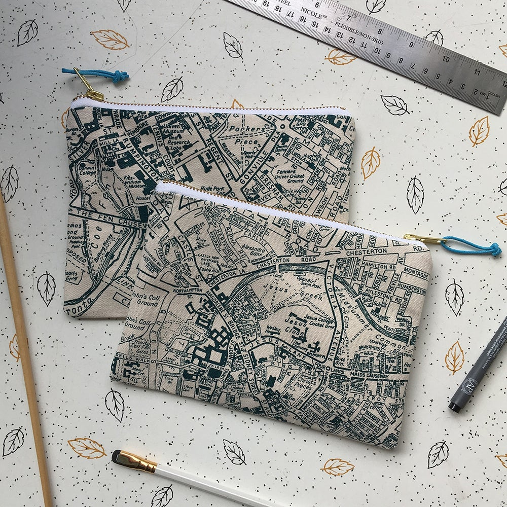 Image of Cambridge map clutch purse