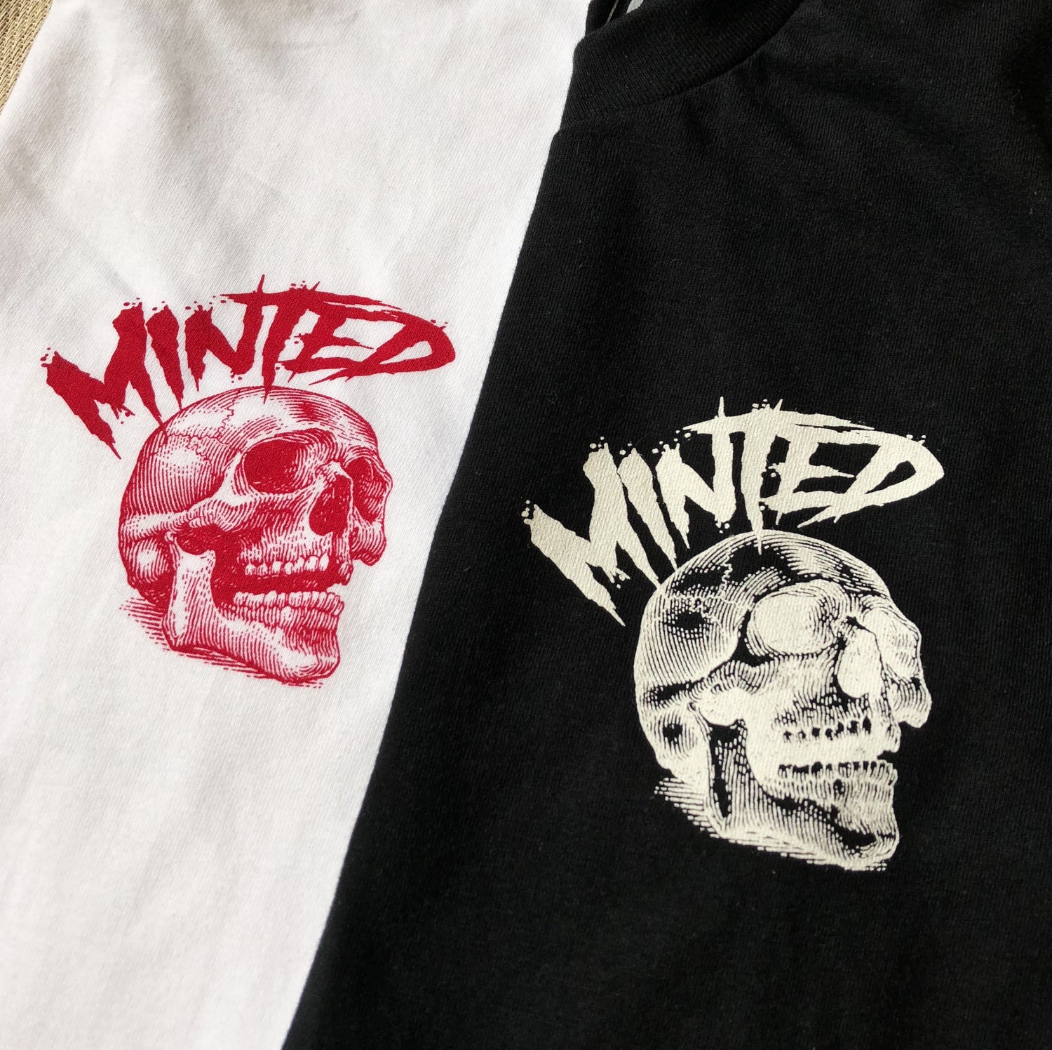 Image of Minted Skull T-shirt (White)