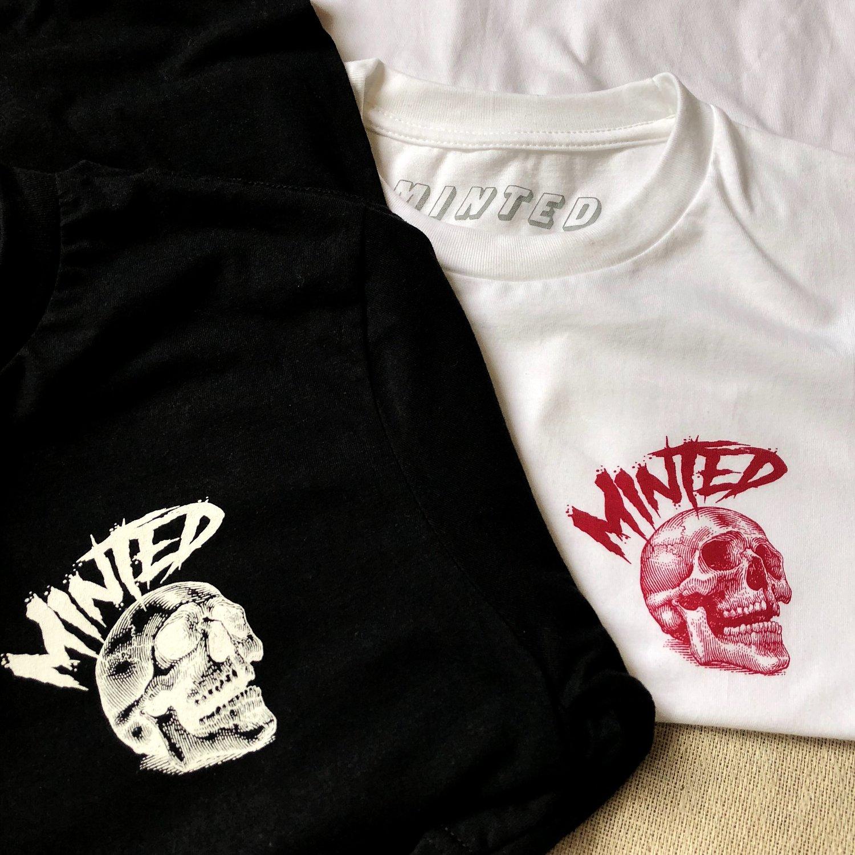 Image of Minted Skull T-shirt (Black)