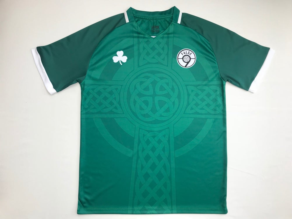 Image of F4L5E 9 Green Celtic Cross Football Shirt