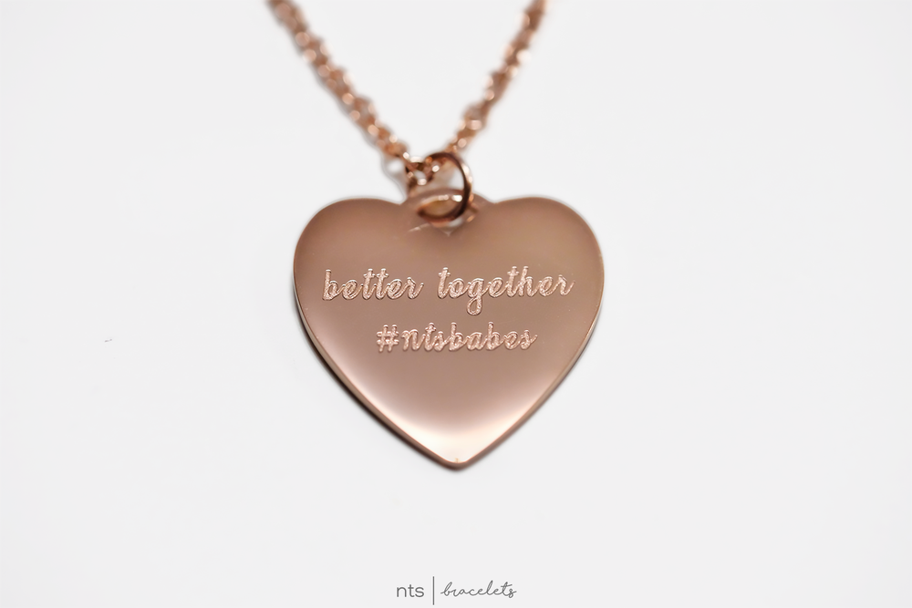Image of #NTSBABES BETTER TOGETHER NECKLACE (Heart + Rose Gold)