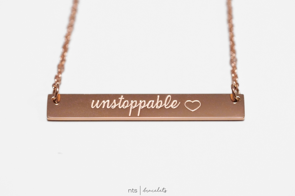 Image of #NTSBABES UNSTOPPABLE NECKLACE <3 (Rose Gold)