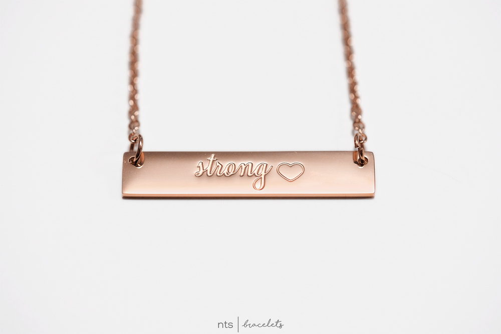 Image of #NTSBABES STRONG NECKLACE <3 (Rose Gold)