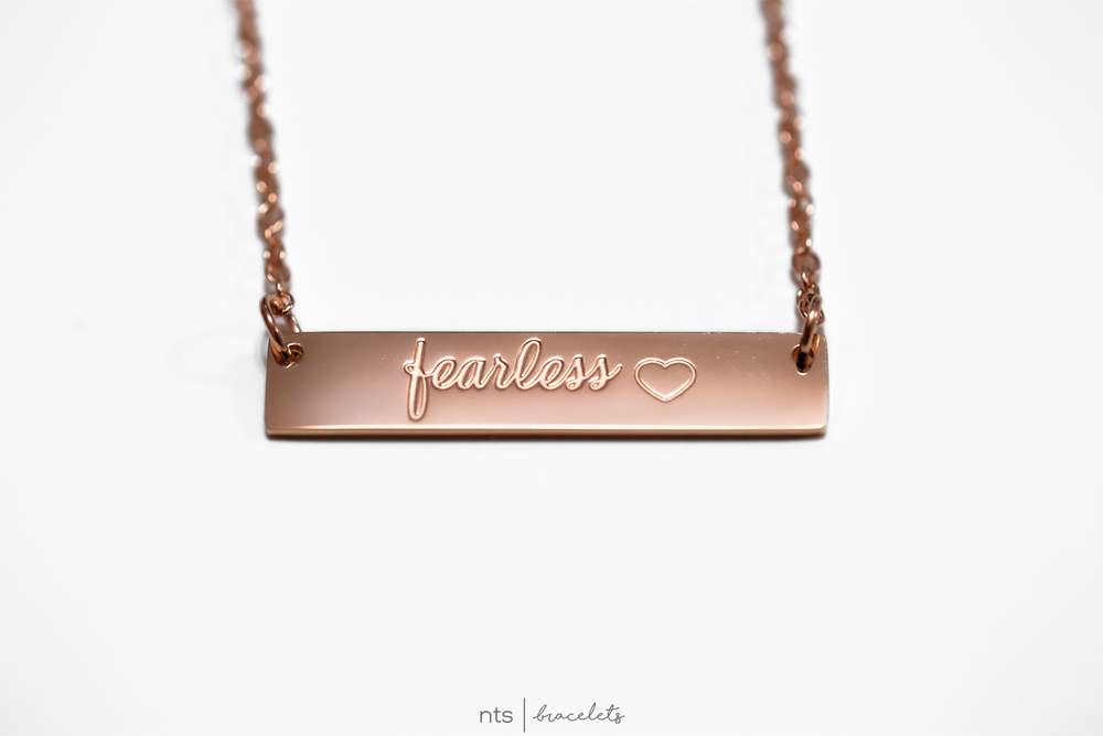 Image of #NTSBABES FEARLESS NECKLACE <3 (Rose Gold)