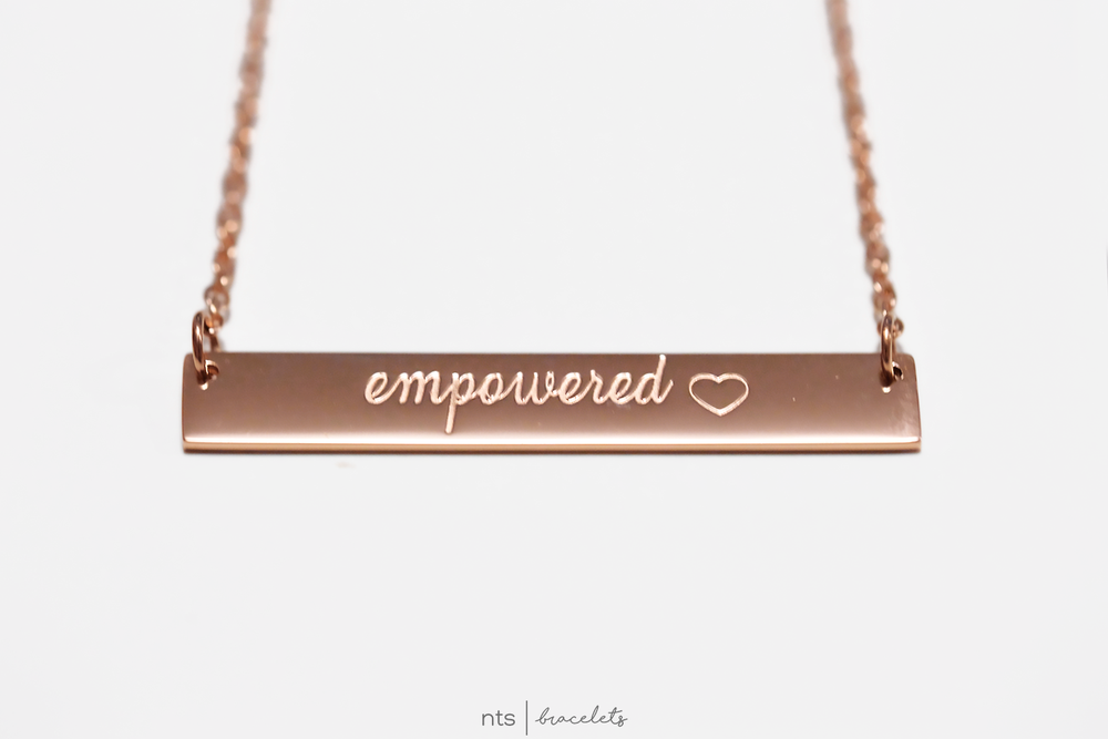 Image of #NTSBABES EMPOWERED NECKLACE <3 (Rose Gold)