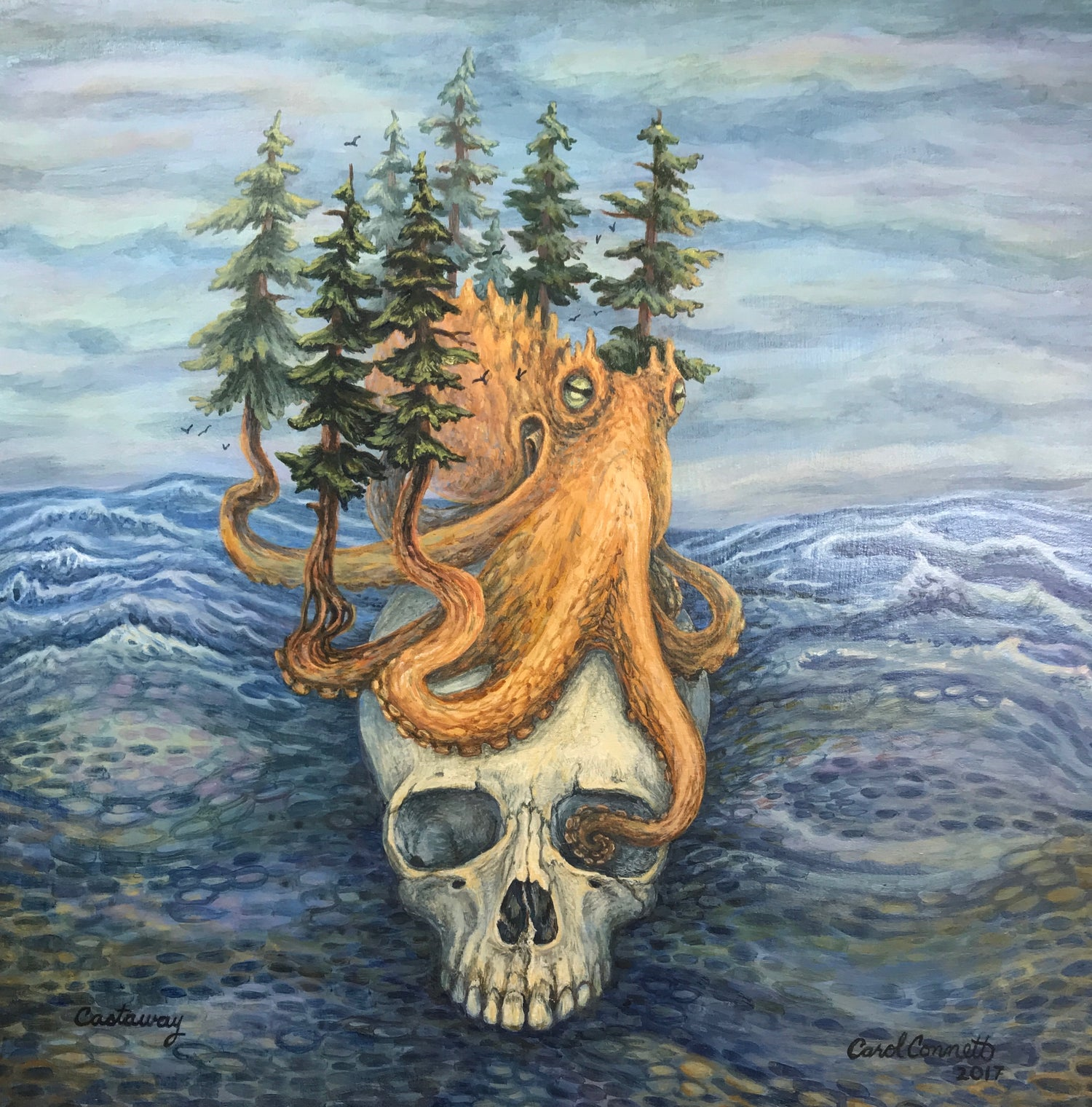 Image of Fine Art Giclee Print of my painting Castaway