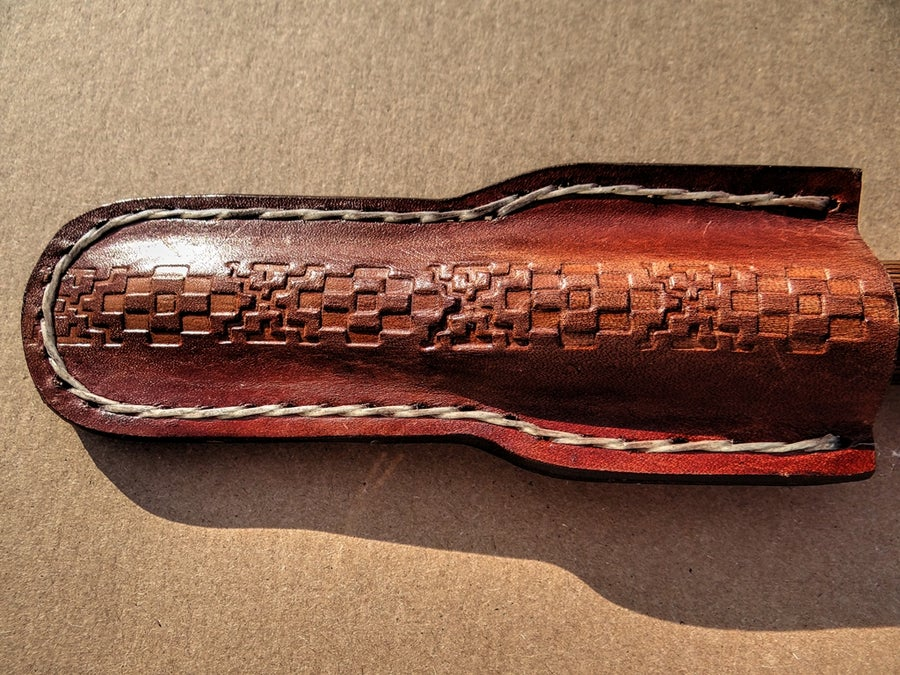 Image of #10 CUSTOM LEATHER OBOE AND BASSOON KNIFE SHEATH