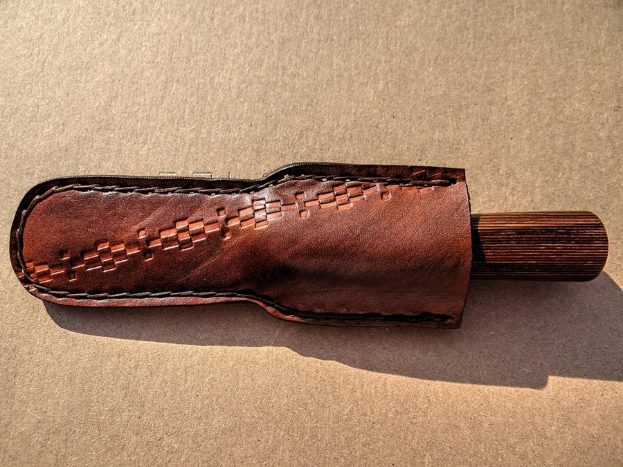 Image of #15 CUSTOM LEATHER OBOE AND BASSOON KNIFE SHEATH