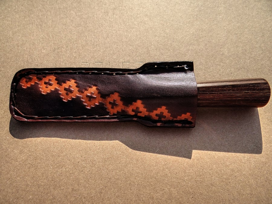 Image of #21 CUSTOM LEATHER OBOE AND BASSOON KNIFE SHEATH