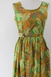 Image of SOLD Jungle Leaves Wrap Dress