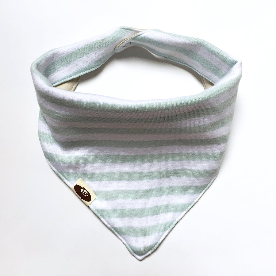 Image of Howdy Bandana Bib . Blue Stripe (+ prints)