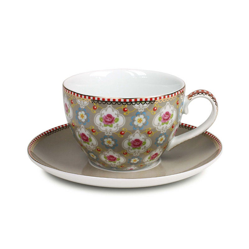 Image of PiP Studio Blossom Cup & Saucer ~ Khaki