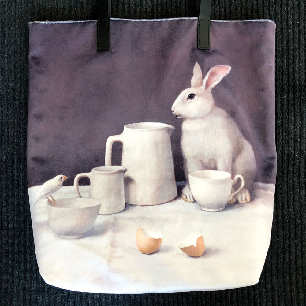 Image of Velvet White Rabbit Bag