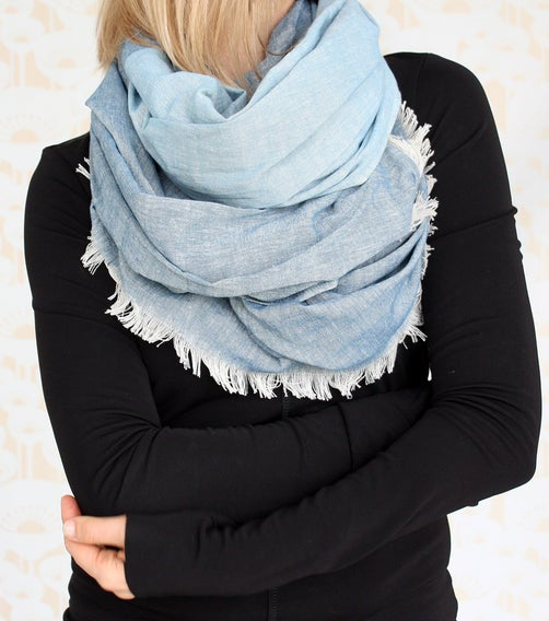 Image of Hand Woven Denim Scarf