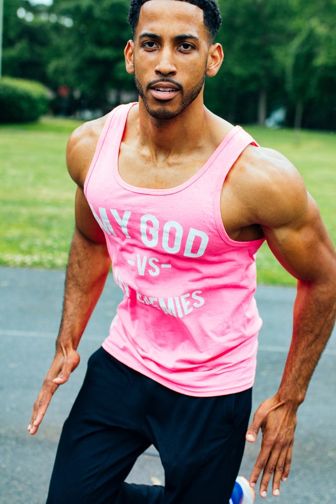 Image of Pink MGVME Unisex Tank Top