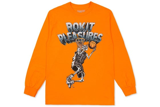 Image of PLEASURES X ROKIT LAY UP LONG SLEEVE (ORANGE)