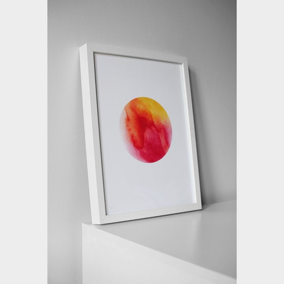 Image of Dot - Orange (A3 print)